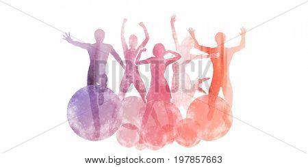 Celebrating Life with a Celebration Dance Silhouette Concept 3D Illustration Render
