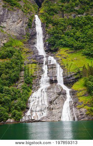 waterfall Friaren Geiranger fjord, Norway