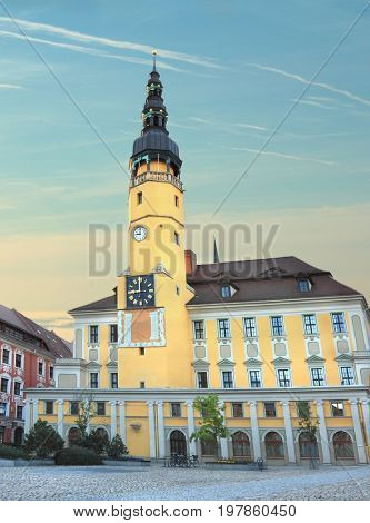 City Hall with tower in of Bautzen, Germany