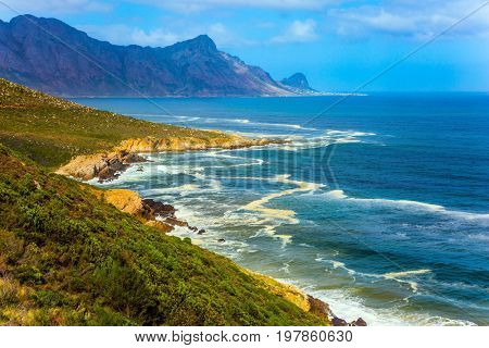 Mysterious South Africa. The place where two oceans - Atlantic and Indian meet. The concept of extreme and exotic tourism