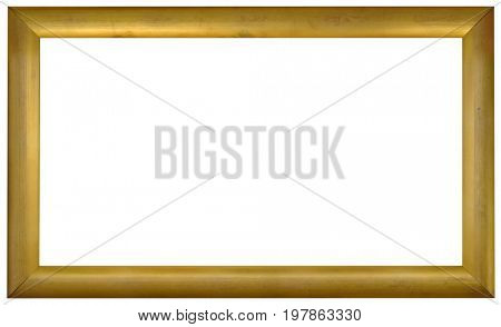 Simple Empty Panoramic Golden Frame Background Cutout