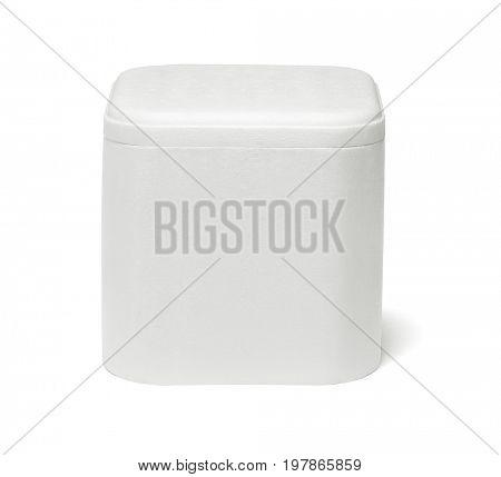 Styrofoam Storage Container on White Background