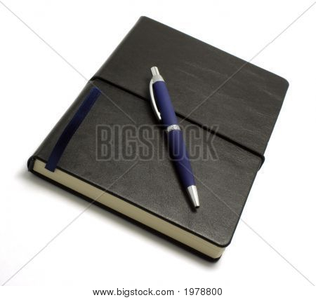 Black Notebook With Pen