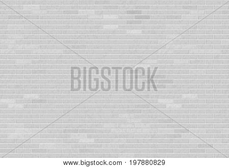 White brick wall. Industrial construction textured background. Stock vector illustration.