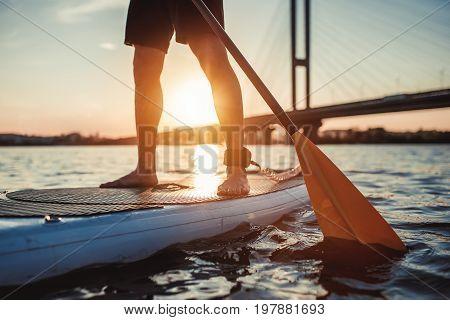 Man On Sup Board