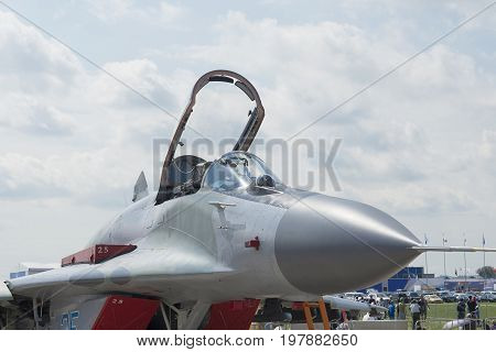 Russian Military Fighter Jet At Maks.
