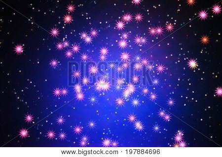 Glowing stars in space galaxy illustration background hd