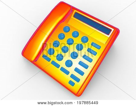 3d illustration of phone. white background isolated. icon for game web.