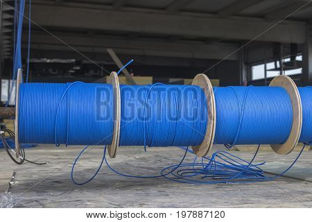 Blue Ftp Ethernet Cable Reels
