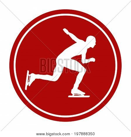 sports sign icon male athlete speed skating