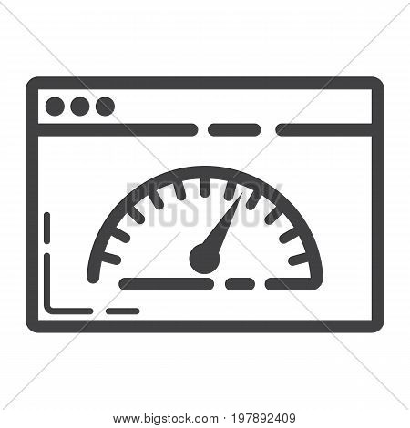 Page Speed line icon, seo and development, browser sign vector graphics, a linear pattern on a white background, eps 10.