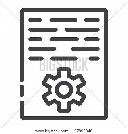 Article marketing line icon, seo and development, document sign vector graphics, a linear pattern on a white background, eps 10.