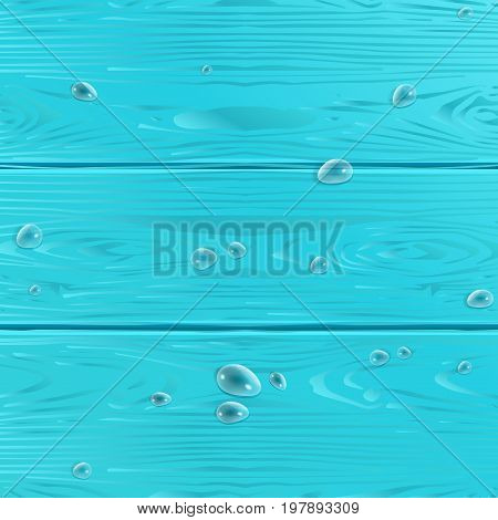 Wooden texture vector. Realistic wood pattern with water drops. Wood texture for Holiday decoration. Realistic Wood Grey color Wood seasonal background. For Trendy design.