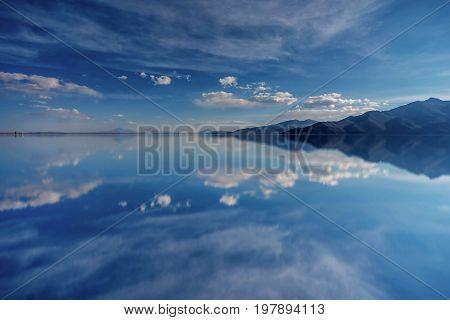 Landscape of Salar de Uyuni in Bolivia