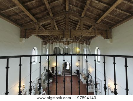 SAN DIEGO, CALIFORNIA, JUNE 10. Presidio Park on June 10, 2017, in San Diego, California. An Interior View at the Junipero Sierra Museum in Presidio Park, San Diego.