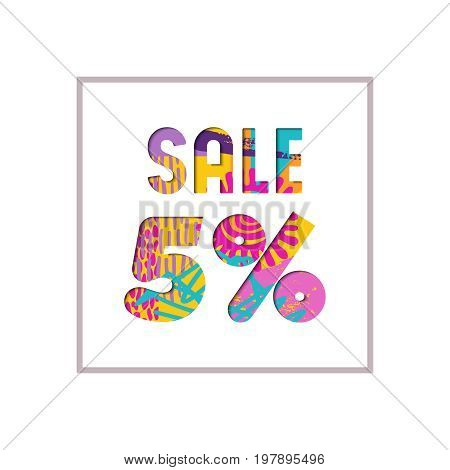 Sale 5% Off Color Quote For Business Discount