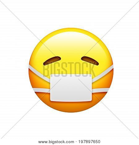Emoji Yellow Sick And Uncomfortable Face With Mouth Mask Icon