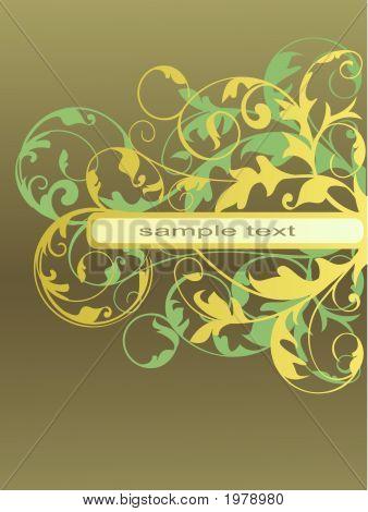 Golden Filigree Floral Frame