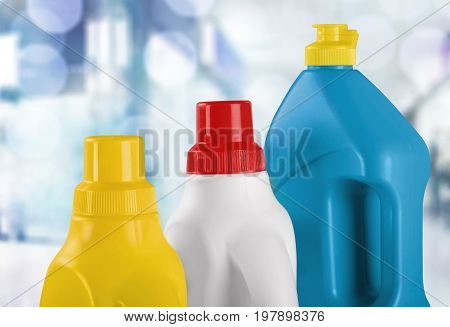 House bottles chemical household household chemicals yellow group