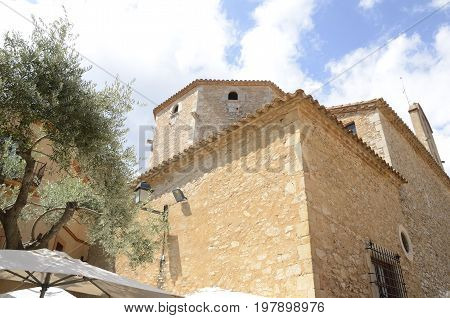 Church in the old town of Begur Catalonia northeastern Spain.