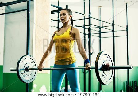 Fit Woman On Training