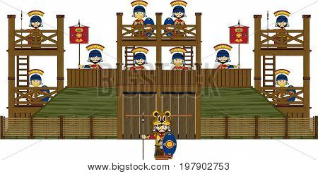 Roman Soldier Wooden Fort