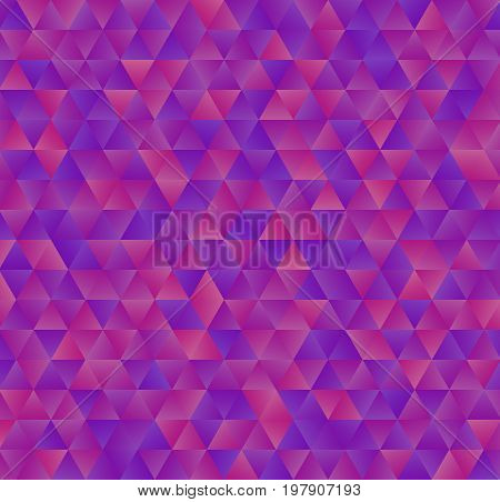 Texture consisting of magenta gradient triangles.Abstract vector background.Template for your design.