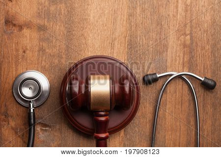 Stethoscope hammer background isolated health board medical