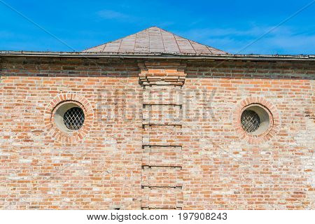 Fragment Of An Old Red Brick Building