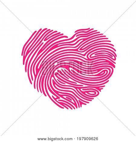 Heart Shape abstract Finger Print