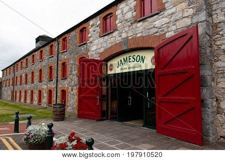 July 29th, 2017, Distillers Walk, Midleton, Co Cork, Ireland - Main entrance to the Jameson Experience, an Irish whiskey museum and visitor centre located in the Old Midleton Distillery in Midleton