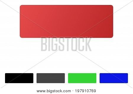 Minus flat vector pictograph. Colored minus gradient, gray, black, blue, green icon variants. Flat icon style for graphic design.