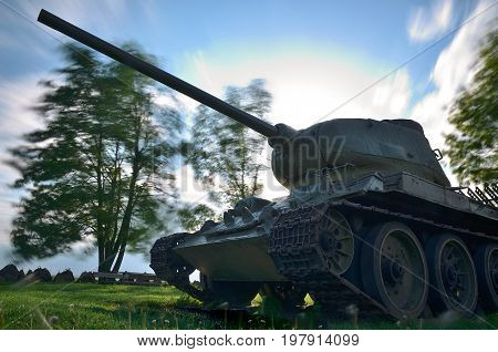 Russian tank T34 from second world war