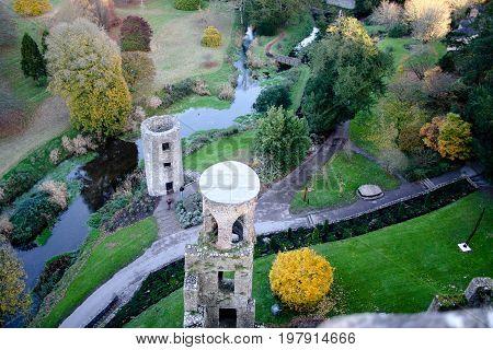 November 21st, 2013, Blarney, Co Cork, Ireland - Blarney Castle, a medieval stronghold near the river Martin.