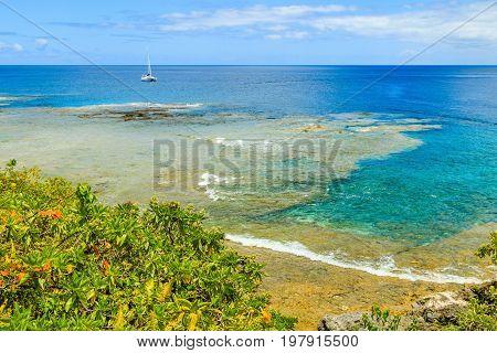 Alofi Niue. Coastline of Alofi Niue South Pacific.