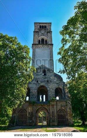 Destroyed christian church in Bihac. Bosna and Hercegovina.