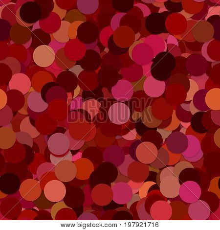 Repeating abstract geometric dot pattern background - vector illustration from circles in maroon tones with shadow effect