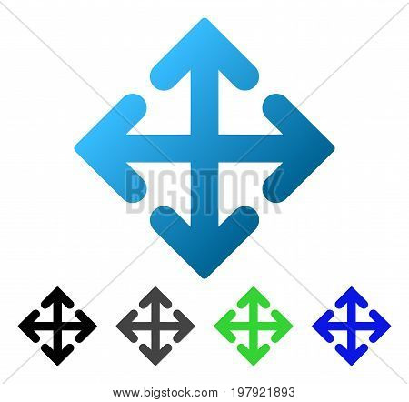 Direction Variants flat vector icon. Colored direction variants gradient, gray, black, blue, green pictogram variants. Flat icon style for graphic design.