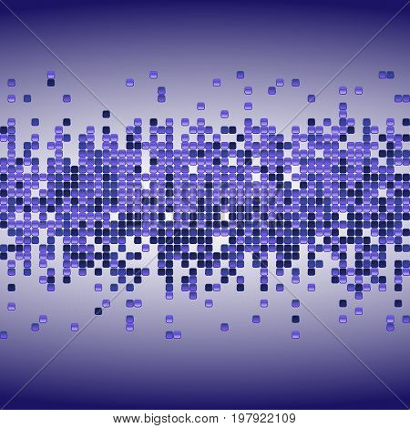 Vector Shiny Background With Purple Sequins. Horizontal Background With Dispersed Particles. Vector