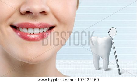 White teeth woman medical staff healthy life close-up person