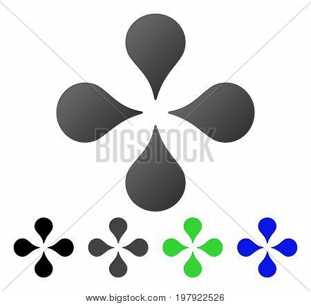 Map Markers flat vector pictograph. Colored map markers gradient, gray, black, blue, green pictogram variants. Flat icon style for application design.