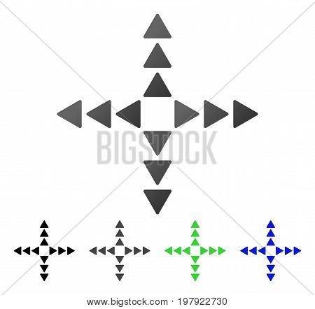 Outside Direction flat vector pictogram. Colored outside direction gradiented, gray, black, blue, green pictogram variants. Flat icon style for graphic design.