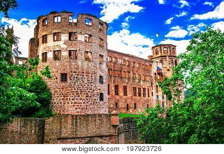 magnificent Schloss Heidelberg - great castles of Germany, popular touristic attraction