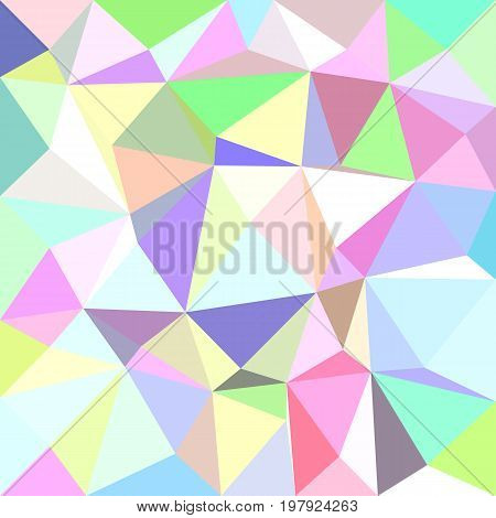 Multicolored irregular triangle tile mosaic background - polygon vector illustration from triangles