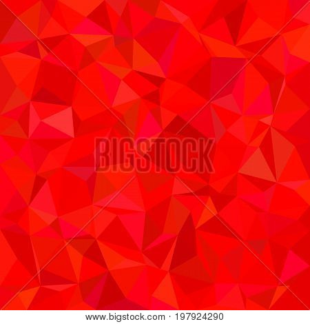 Abstract geometrical irregular triangle tile mosaic pattern background - polygonal vector design from triangles in red tones