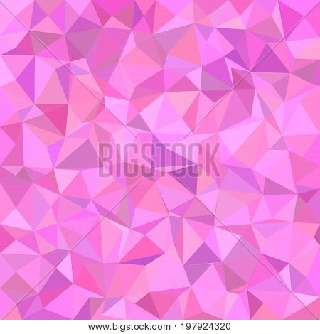 Abstract geometrical triangle mosaic pattern background - polygon vector illustration from irregular triangles in pink tones
