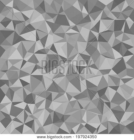 Abstract triangle tiled mosaic pattern background - polygon vector illustration from irregular triangles in grey tones