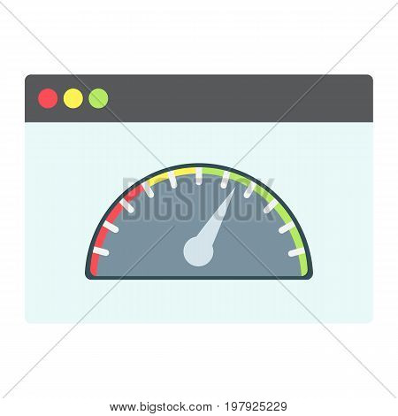 Page Speed flat icon, seo and development, browser sign vector graphics, a colorful solid pattern on a white background, eps 10.