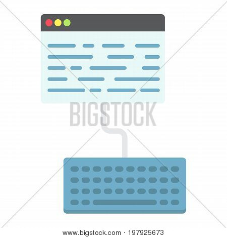 Copywriting flat icon, seo and development, blogging sign vector graphics, a colorful solid pattern on a white background, eps 10.