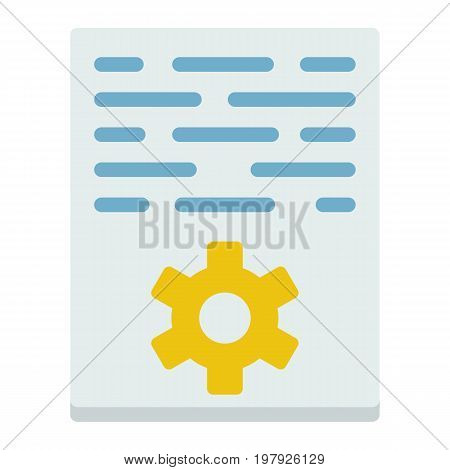 Article marketing flat icon, seo and development, document sign vector graphics, a colorful solid pattern on a white background, eps 10.